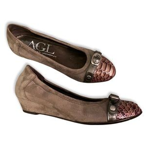 AGL Wedges Suede Leather 36